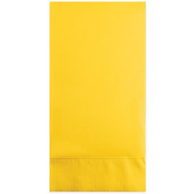 36-Count 2-Ply Paper Guest Towels in Schoolbus Yellow