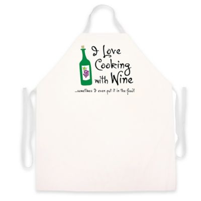 "L.A. Imprints ""Cooking with Wine"" Apron"