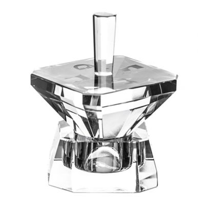 Four Square Crystal Hanukkah Dreidel
