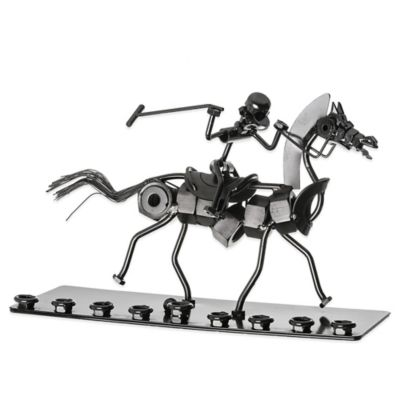 Down the Stretch Nuts & Bolts Hanukkah Menorah