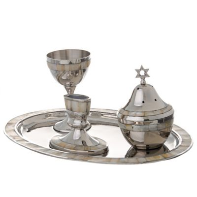Mother of Pearl 4-Piece Havdallah Set