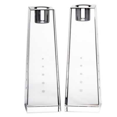 Stardust Crystal Candlesticks (Set of 2)