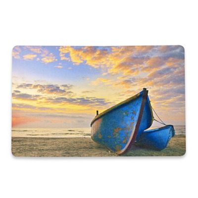 Table Toppers Blu Boats on the Beach Placemat