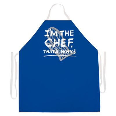 "L.A. Imprints ""I'm The Chef"" Novelty Apron in Royal Blue"