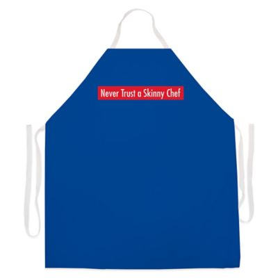"L.A. Imprints ""Skinny Chef"" Novelty Apron in Royal Blue"