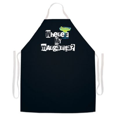 "L.A. Imprints ""Where's my Margarita?"" Novelty Apron in Black"