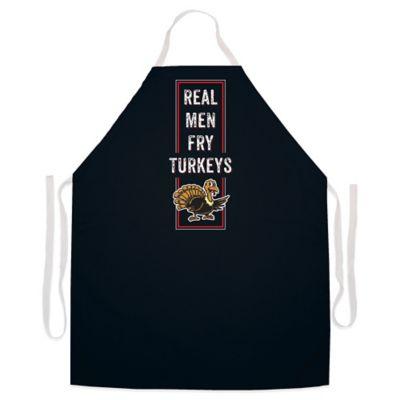 "L.A. Imprints ""Real Men Fry Turkeys"" Novelty Apron in Black"