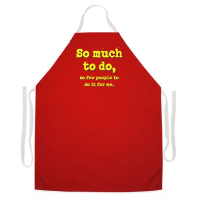"L.A. Imprints ""So Much To Do"" Novelty Apron in Red"