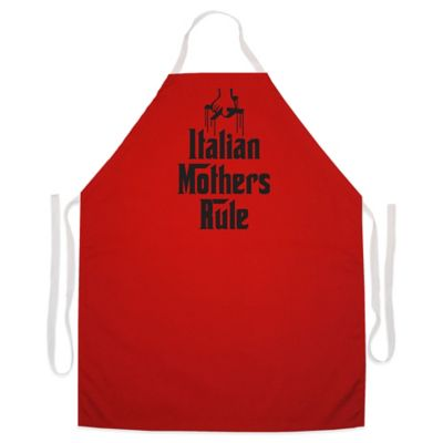 "L.A. Imprints ""Italian Mothers Rule"" Novelty Apron in Red"