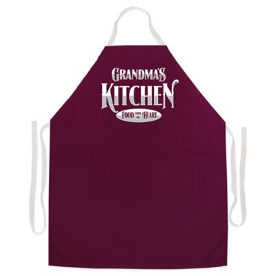 "L.A. Imprints ""Grandma's Kitchen"" Novelty Apron in Maroon"