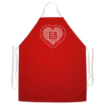 "L.A. Imprints ""Best Mom Ever"" Novelty Apron in Red"