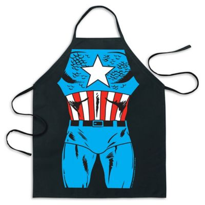 ICUP Marvel® Captain America Be The Hero Apron in Black