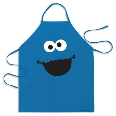 ICUP Cookie Monster Big Face Apron in Blue