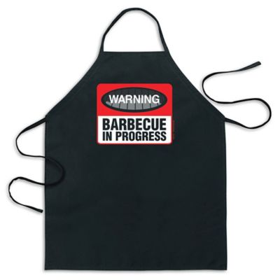 "ICUP ""Warning Barbecue In Progress"" Apron in Black"