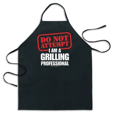 "ICUP ""Do Not Attempt I Am A Grilling Professional"" Apron in Black"