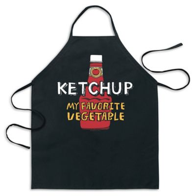 "ICUP ""Ketchup My Favorite Vegetable"" Apron in Black"
