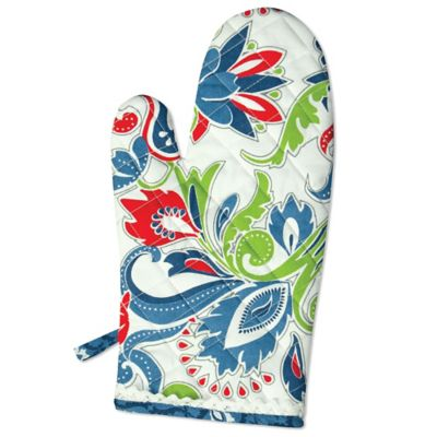 Heritage Lace® Nantucket Oven Mitt in Blue/Red/White