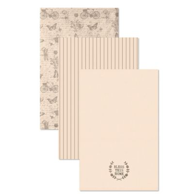 Heritage Lace® Nature's Script Tea Towels in Cream (Set of 3)
