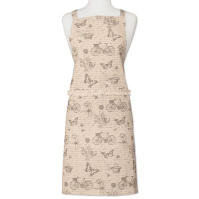 Heritage Lace® Nature's Script Apron in Cream