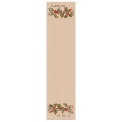 Heritage Lace® Holiday 60-Inch Holly-Be Merry Table Runner