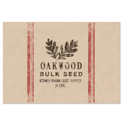 Heritage Lace® Seed Labels Oakwood Placemat