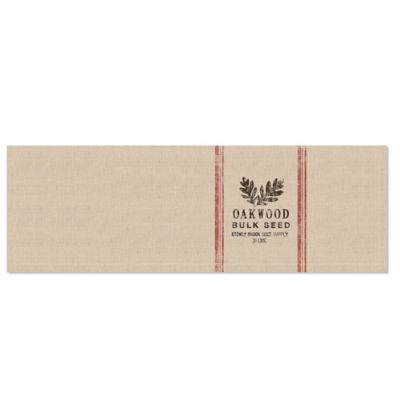 Heritage Lace® Seed Labels 48-Inch Oakwood Table Runner