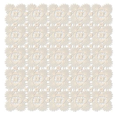 Heritage Lace® Blue Ribbon Crochet 42-Inch Table Topper in Cream