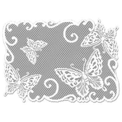 Heritage Lace® Butterflies Placemat in White