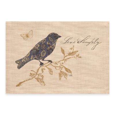 "Heritage Lace® Meadow Song ""Live Simply"" Placemat"