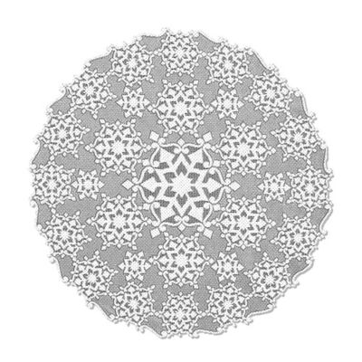 Heritage Lace® Glisten 36-Inch Round Table Topper in Glitter/White