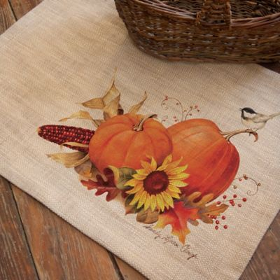 Heritage Lace® Harvest Pumpkin Placemat