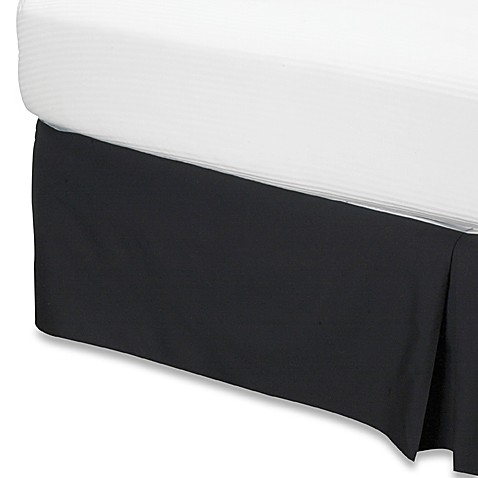 Smoothweave™ 14-Inch Tailored King Bed Skirt in Black