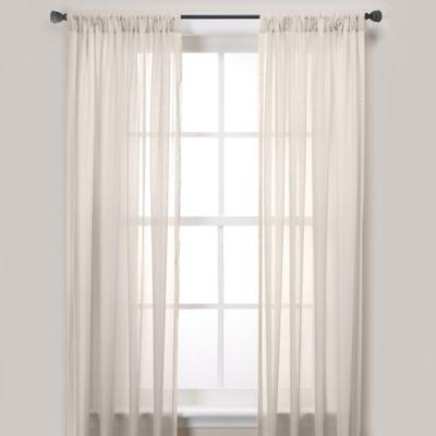 Newbury Pole Top 63-Inch Window Curtain Panel in Ivory