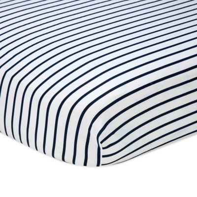 Navy White Striped Bed Sheets