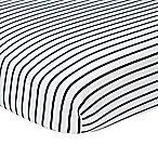 Nautica Kids® Mix & Match Striped Fitted Crib Sheet in Navy/White