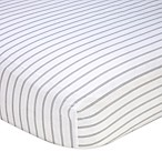 Nautica Kids® Mix & Match Striped Fitted Crib Sheet in Grey/White