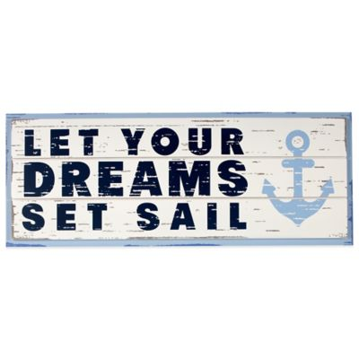 "Nautica Kids® Mix & Match ""Let Your Dreams Set Sail"" Wall Décor"
