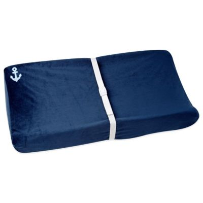 Nautica Kids® Mix & Match Velboa Changing Pad Cover in Navy