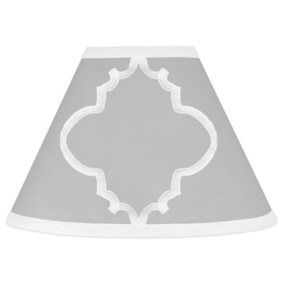 Sweet Jojo Designs Trellis Lamp Shade in Grey/White