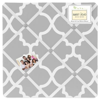 Sweet Jojo Designs Trellis Memo Board in Grey and White