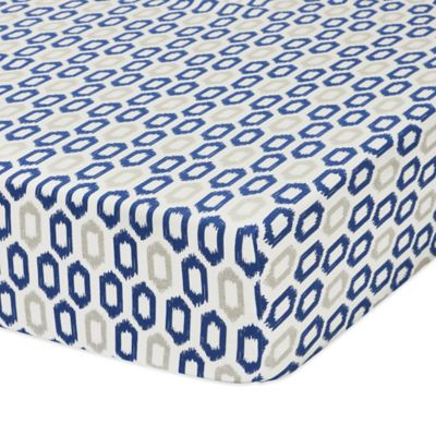 Petit Nest™ Micha Ikat Fitted Crib Sheet