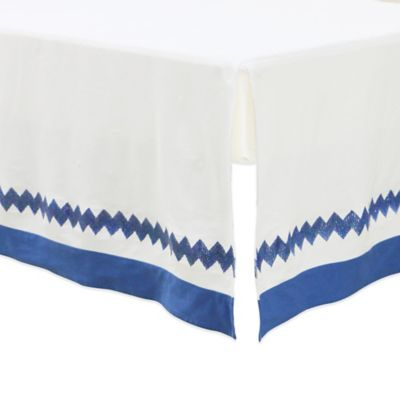 Petit Nest™ Micha Chevron Bed Skirt in Blue/White