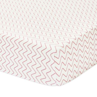 Petit Nest™ Penelope Chevron Fitted Crib Sheet in Pink