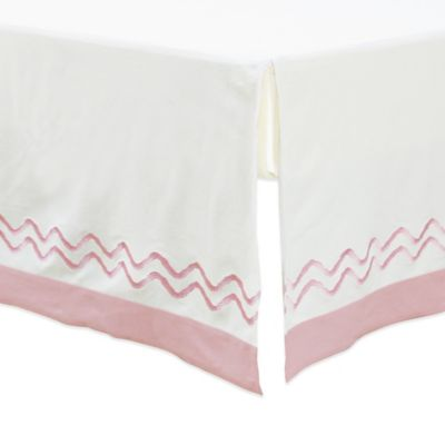 Petit Nest™ Penelope Chevron Crib Skirt in Pink