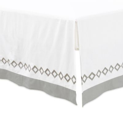 Petit Nest™ Sydney Bed Skirt in Grey/White