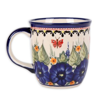 Pottery Avenue Butterfly Merry Making Mug in Strawberry