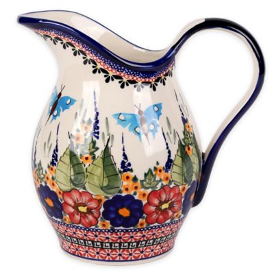 Pottery Avenue Butterfly Merry Making Pitcher