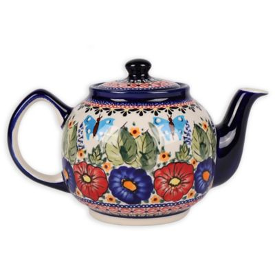Pottery Avenue Butterfly Merry Making Classic Teapot