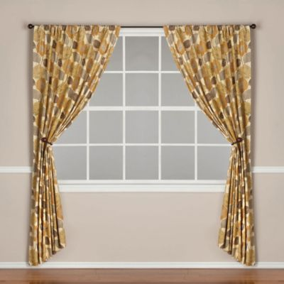 World Market® Emma Lined Rod Pocket 108-Inch Window Curtain Panel in Tea Green