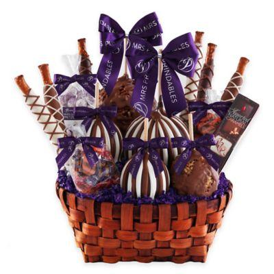 Deluxe Caramel Apple Basket Gift Set